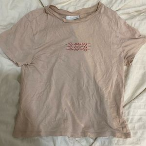 top shop embroidered tee